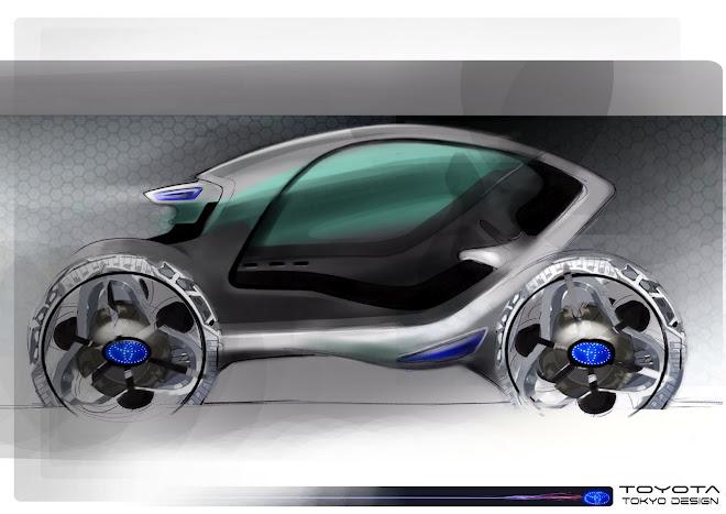 Adil Benwadih tarafından hazırlanan gelecekçi şehir otomobili tasarımı