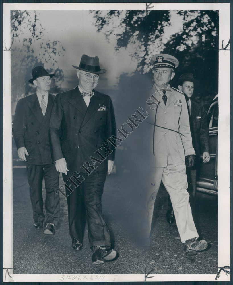 SAIC George Drescher with President Truman
