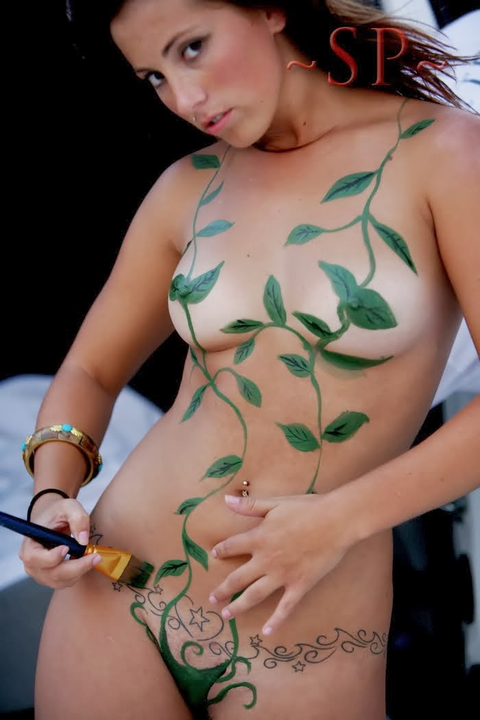 All woman body nude paint