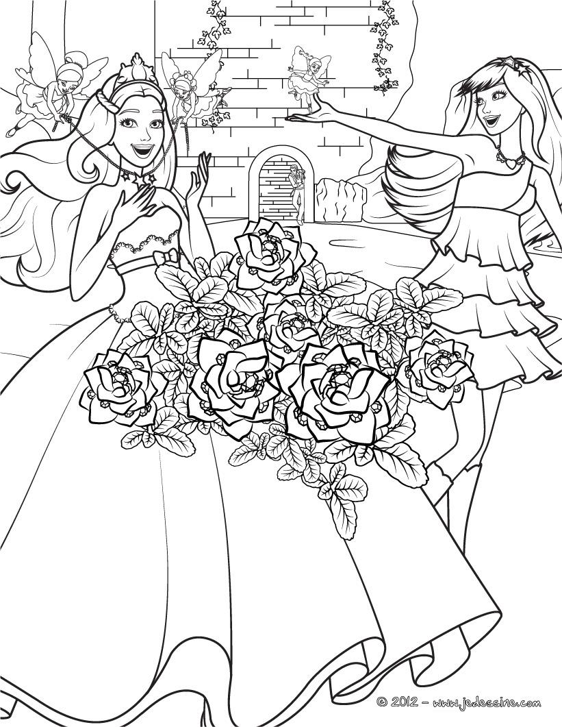Increíble Barbie Y El Castillo De Diamantes Para Colorear Imagen ...