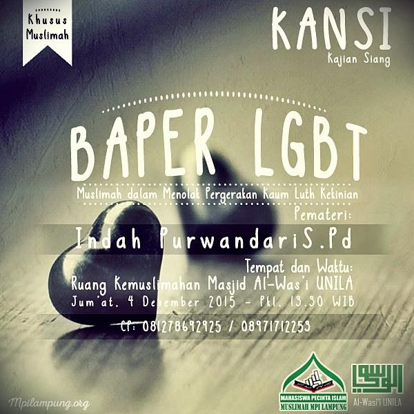 Kajian Siang Muslimah MPI Lampung - BAPER LGBT
