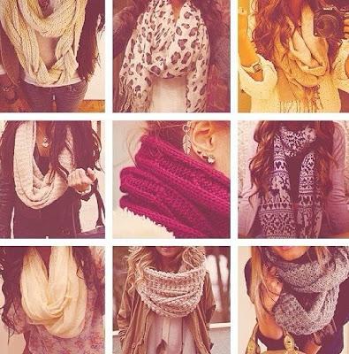 bufandas, cuellos, foulards, pañuelos... un sin fin de posibilidades