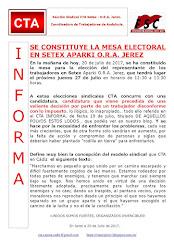 SE CONSTITUYE LA MESA ELECTORAL EN SETEX APARKI O.R.A. JEREZ