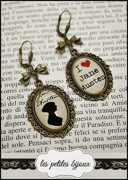 orecchini con cammei Jane Austen earrings