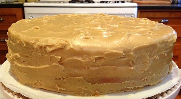 A Cake Bakes In Brooklyn Just Cake And Easy Caramel Frosting