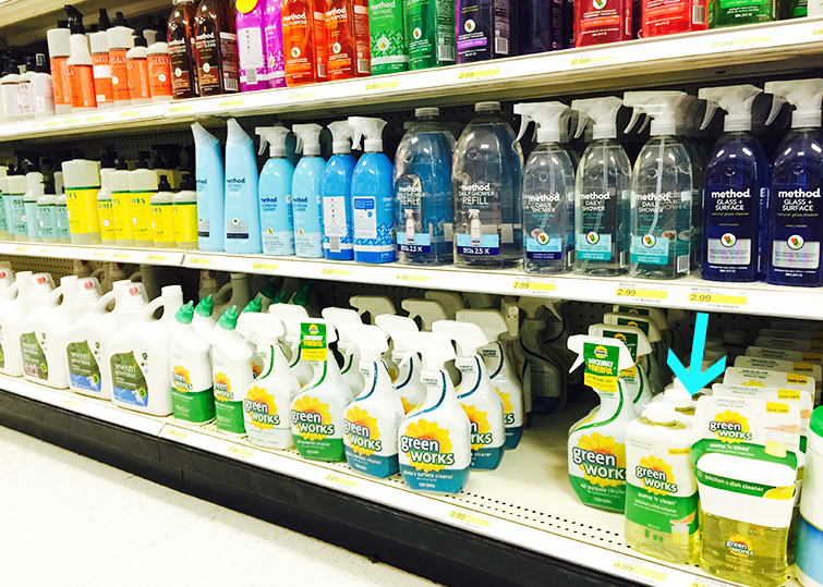 Target Natural Cleaning Aisle