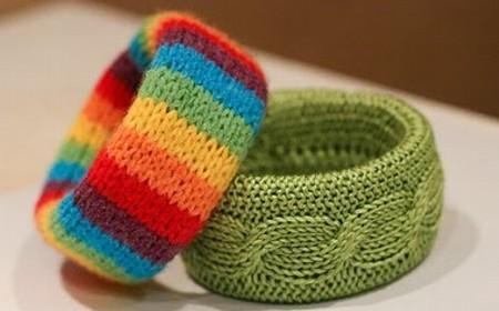 como hacer pulseras con lana imagui