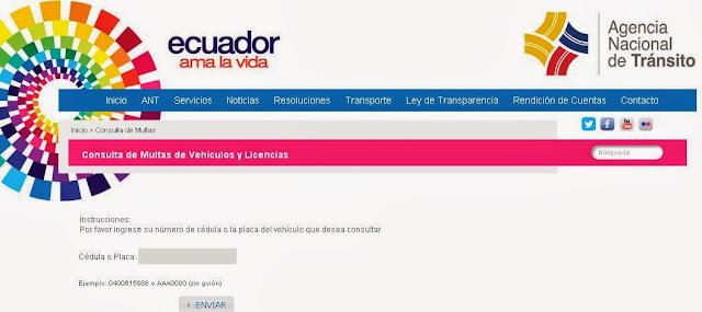 agencia nacional de transito consulta de citas