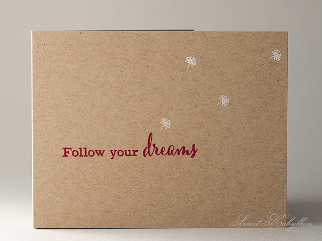 Masculine Card with Dandelion Dreams from Clearly Besotted by Sweet Kobylkin