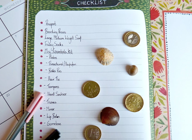 A picture of a travel check-list