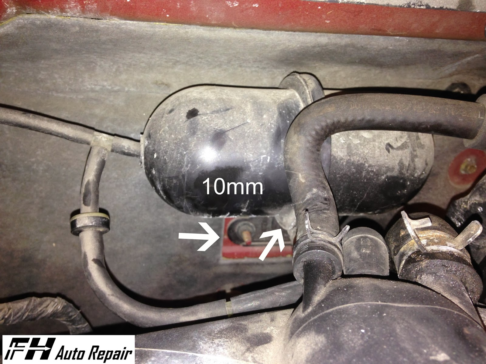 Fh Auto Repair How To Replace The Alternator On A 2001 2004 Ford 2003 Escape V6 Engine Diagram One More Plug Down Deep Between Firewall And Is Green That Must Be Unplugged Pulled Side