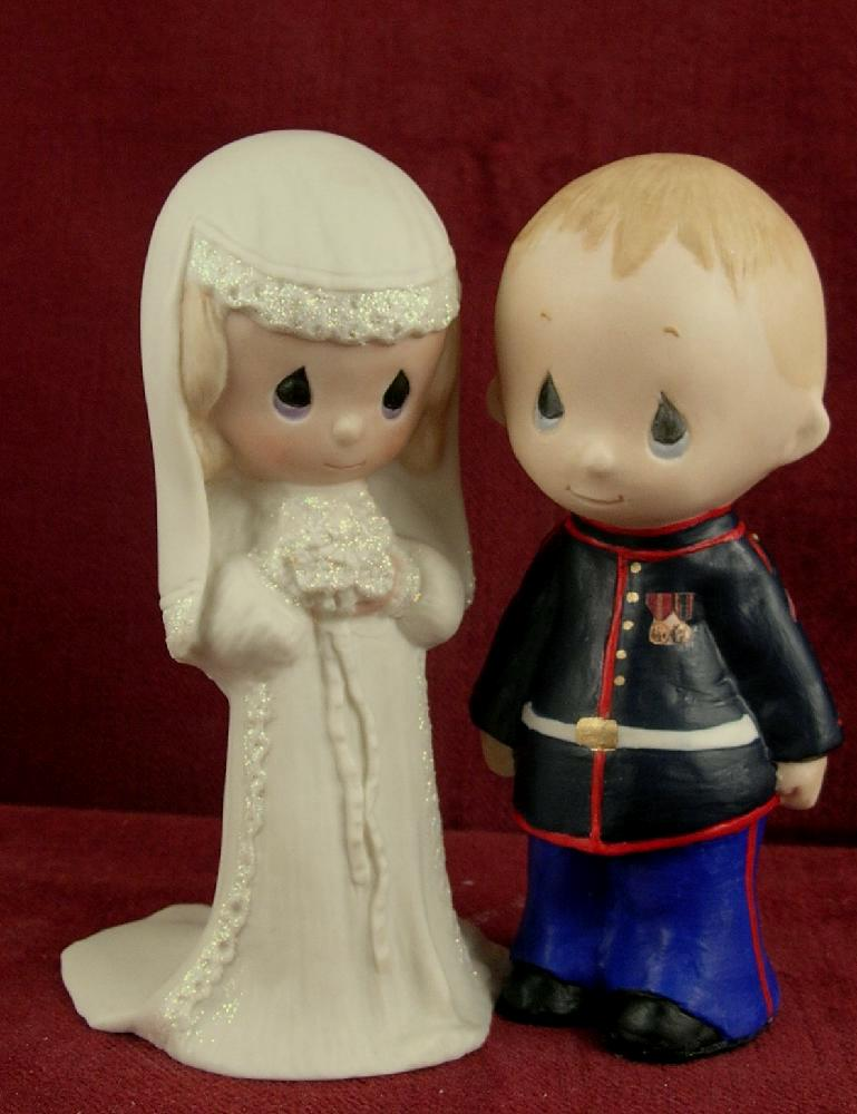 wedding cake toppers: Marine Corps Wedding Cake Toppers