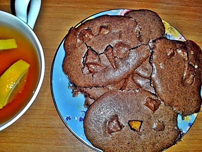 Galletas bombón con naranja