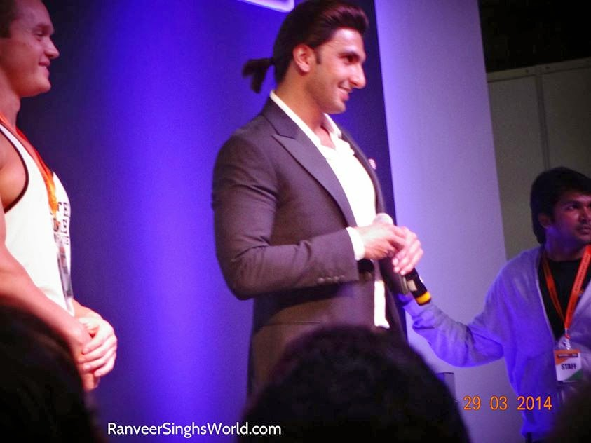 Ranveer Singh at the Body Power India 2014