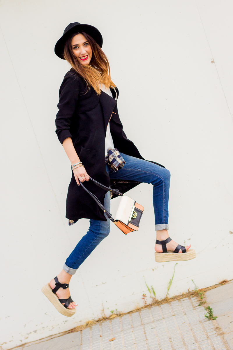 jeans and platforms