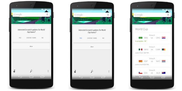 Google Now Android 5.0 hint