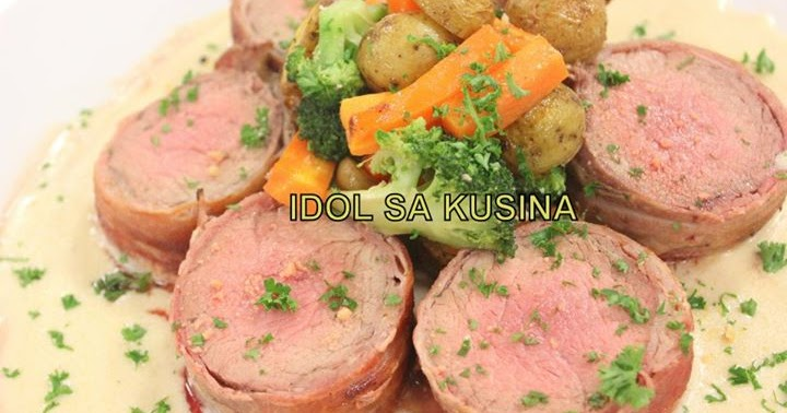 Idol Sa Kusina Recipes: BACON WRAPPED TENDERLOIN WITH PARMESAN SAUCE