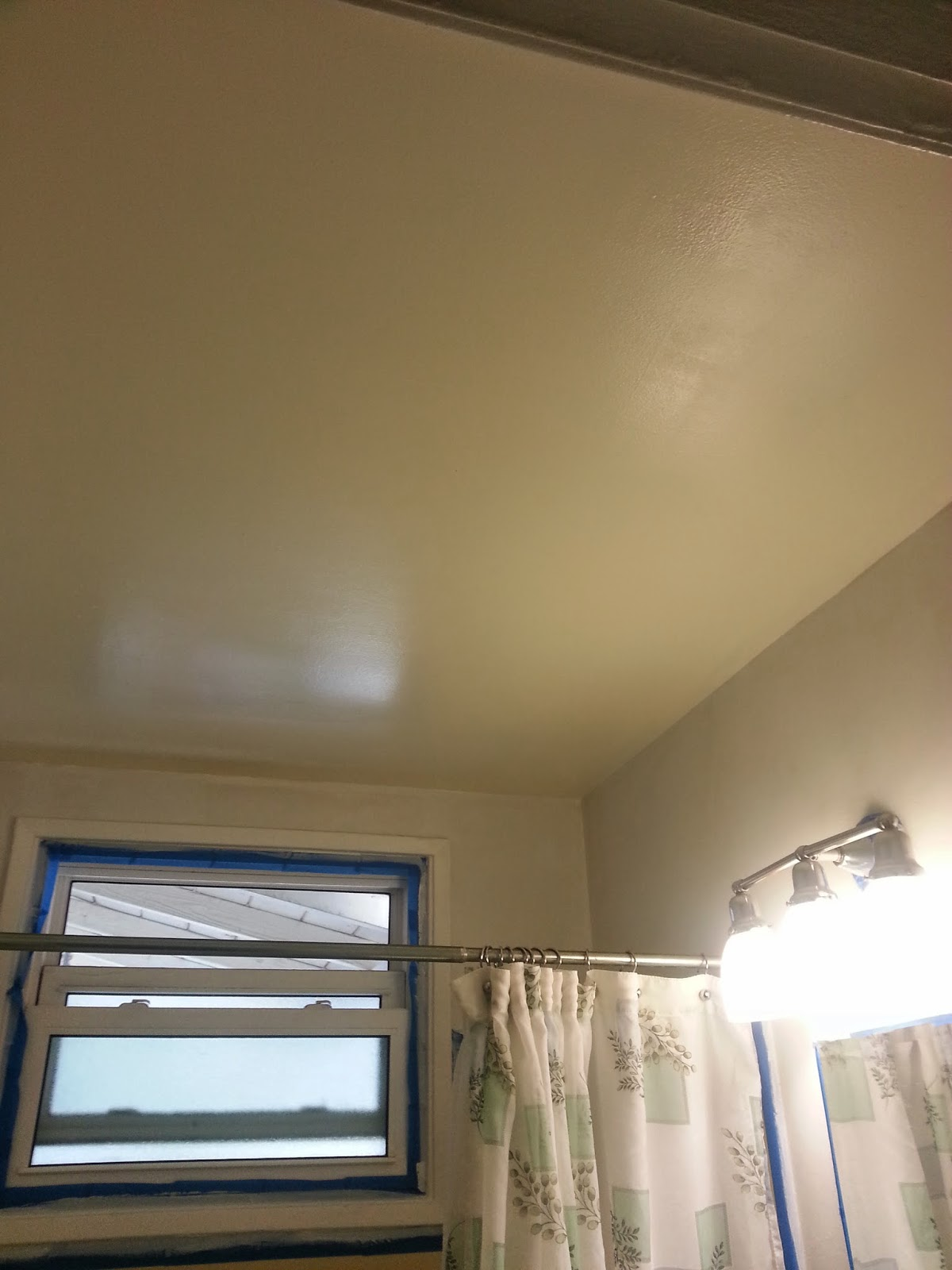 We Did, However, Give The Bathroom Ceiling Its Color Coat While We Had Out  The Semi Gloss Ceiling Color.