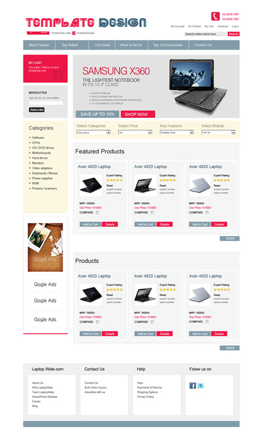 E Commerce Web Templates Design - Buy ecommerce website templates