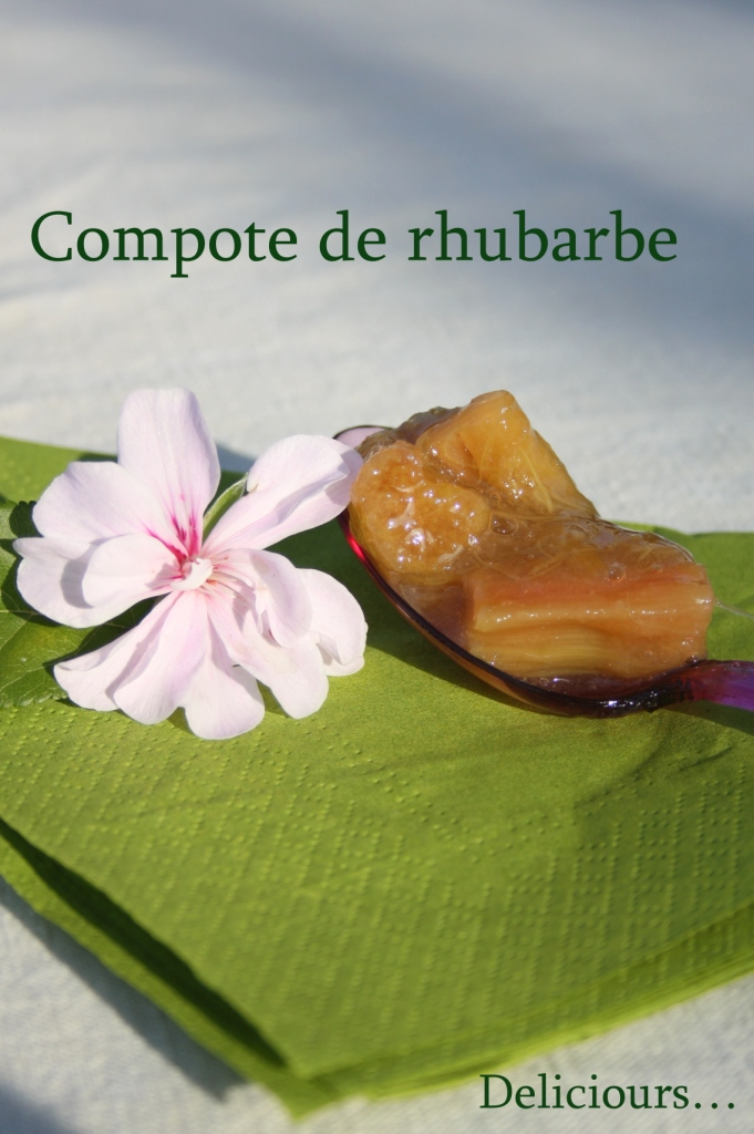 deliciours compote de rhubarbe. Black Bedroom Furniture Sets. Home Design Ideas