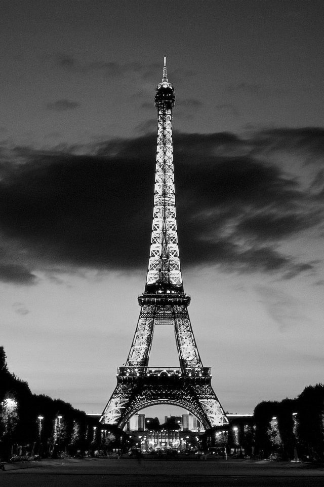 Cool Black And White Tower Wallpaper For Iphone