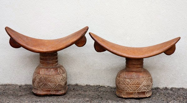 african decor wood headrests phases africa - African Home Decor