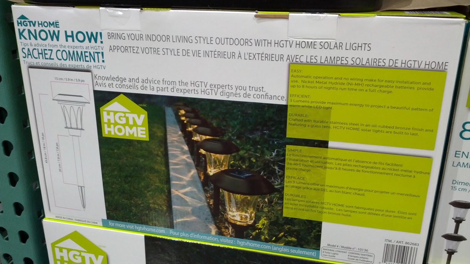 hgtv home 8 piece led solar pathway lights allow you and your guests. Black Bedroom Furniture Sets. Home Design Ideas
