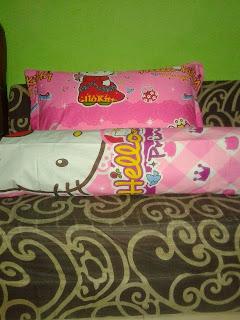 Sarung Bantal Guling Hello Kitty Pink Kain Katun Jepang Murah Surabaya