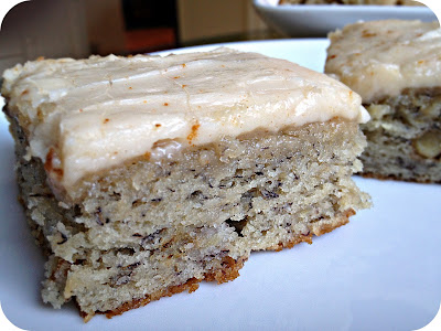 Banana Bread Brownie Bars with Brown Butter Frosting