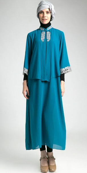 Koleksi Model Baju Dress Muslim Modern Murah 2015