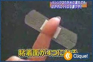 Técnica japonesa de como colocar um simples Band aid