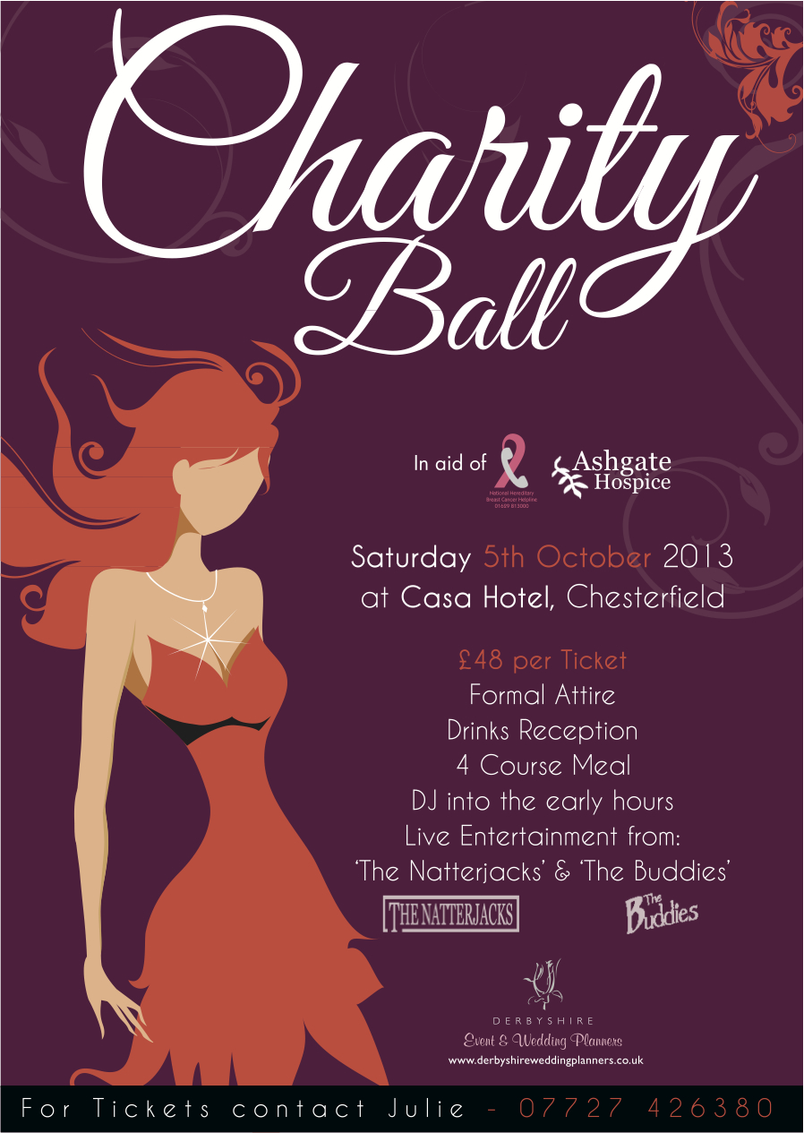 Derbyshire Wedding Planners Charity Ball in aid of Ashgate – Ball Ticket Template