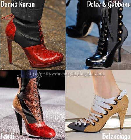 Обувки с връзки есен 2012