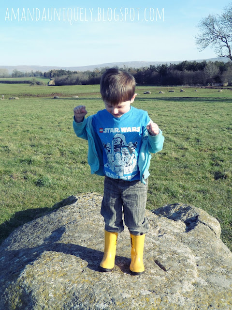 Lucas at Long Meg and Her Sisters, The Lake District.