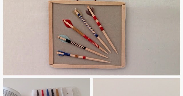 how to make a mini bow and arrow with toothpicks