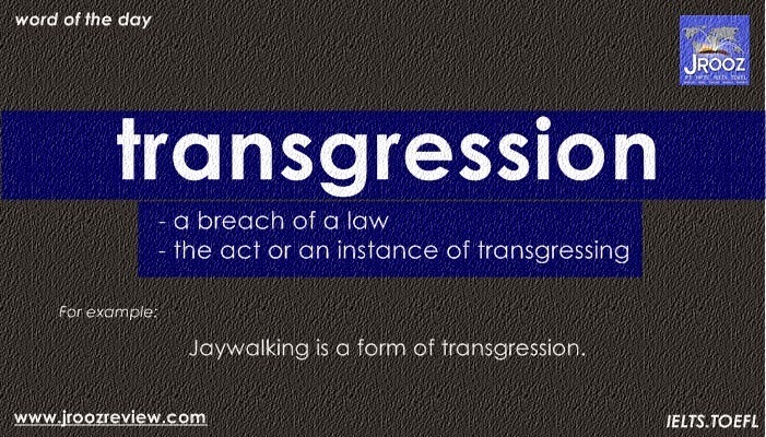 Transgression meaning