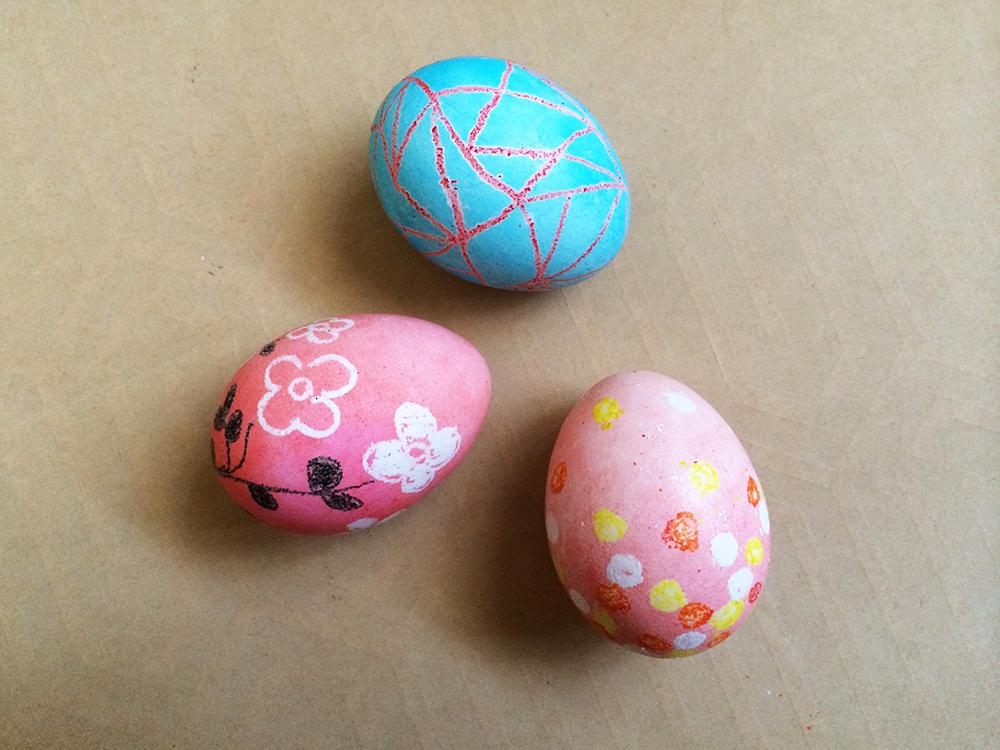 The Pink Doormat Crayon Resist Easter Eggs