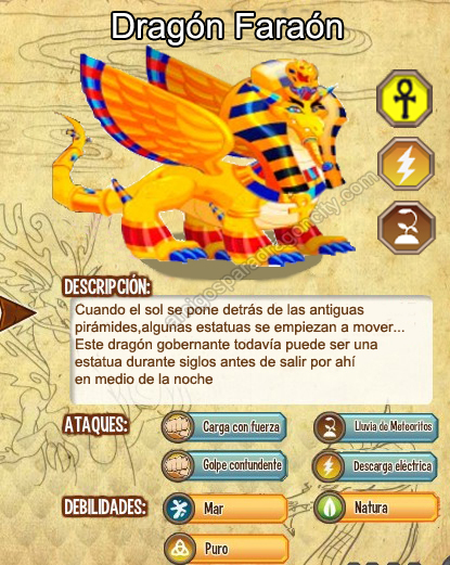 Dragon Faraon | Amigos Para Dragon City