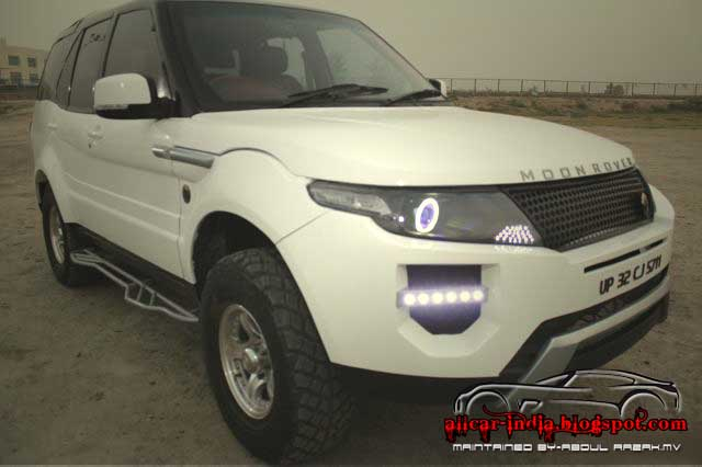automotive craze  tata safari modified as range rover evoque