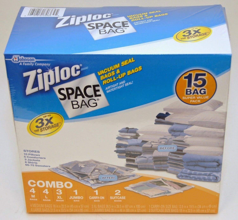 Ziploc Space Bag 15 Bag Space Saver Set  sc 1 th 216 & vacuum seal bags