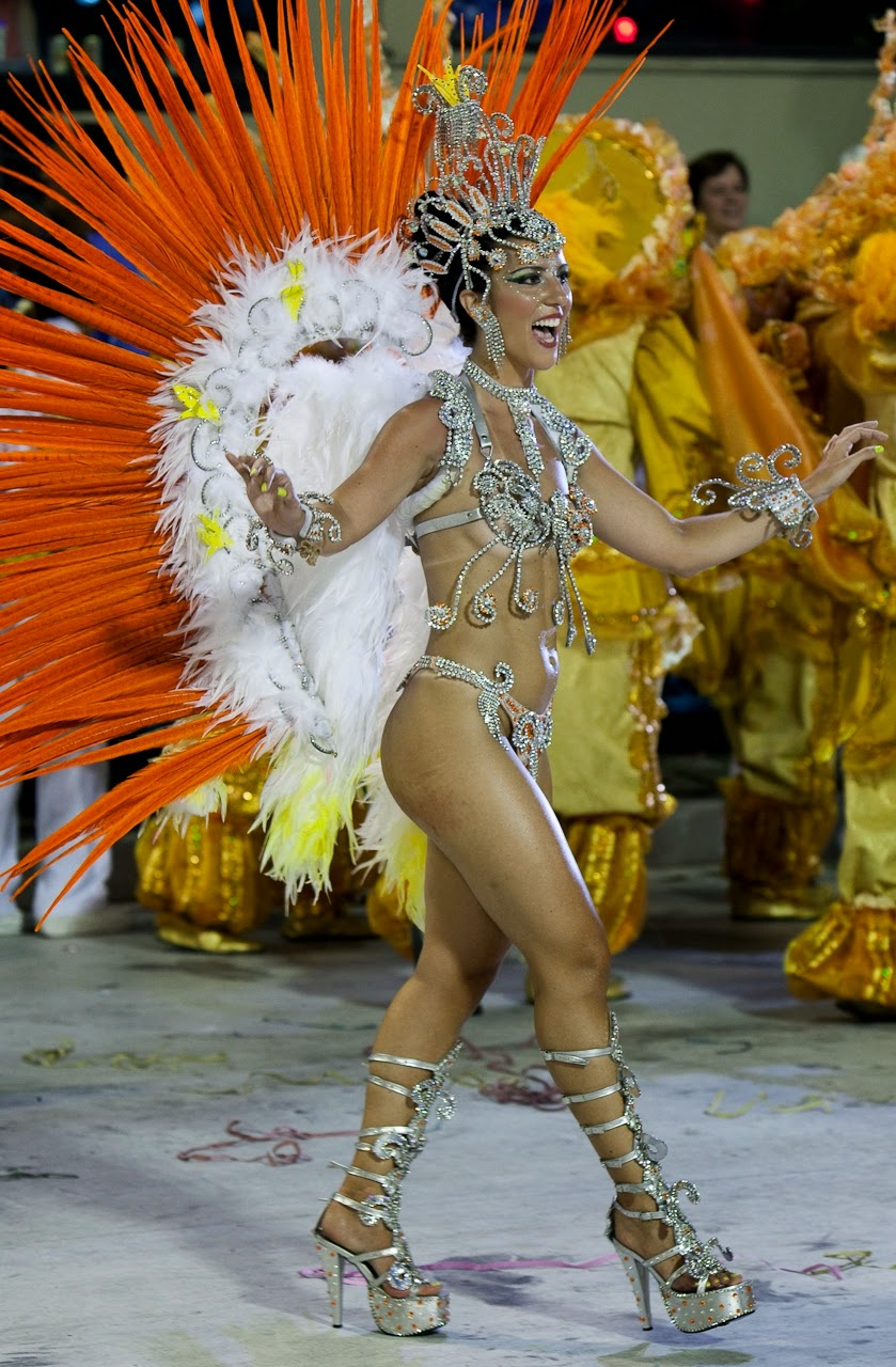Globeleza Valeria Valensa Samba Schools Parade Rio De Janeiro