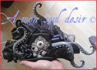 chapeau pieuvre tentacule Cthulhu méduse tentacle octopus hat Davy Jones