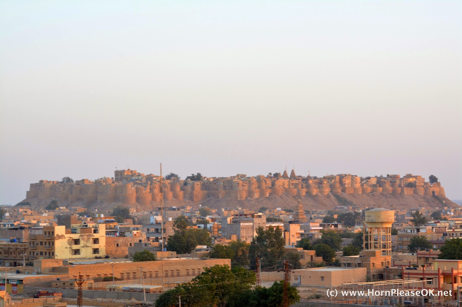 Jaisalmer Fort shines golden under the setting sun