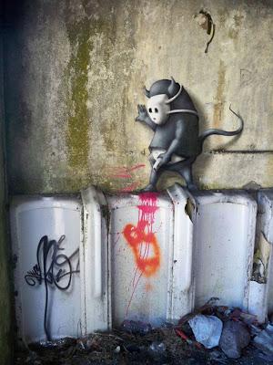 piss, graffiti, mural, street art, urban, character, wall, cart1