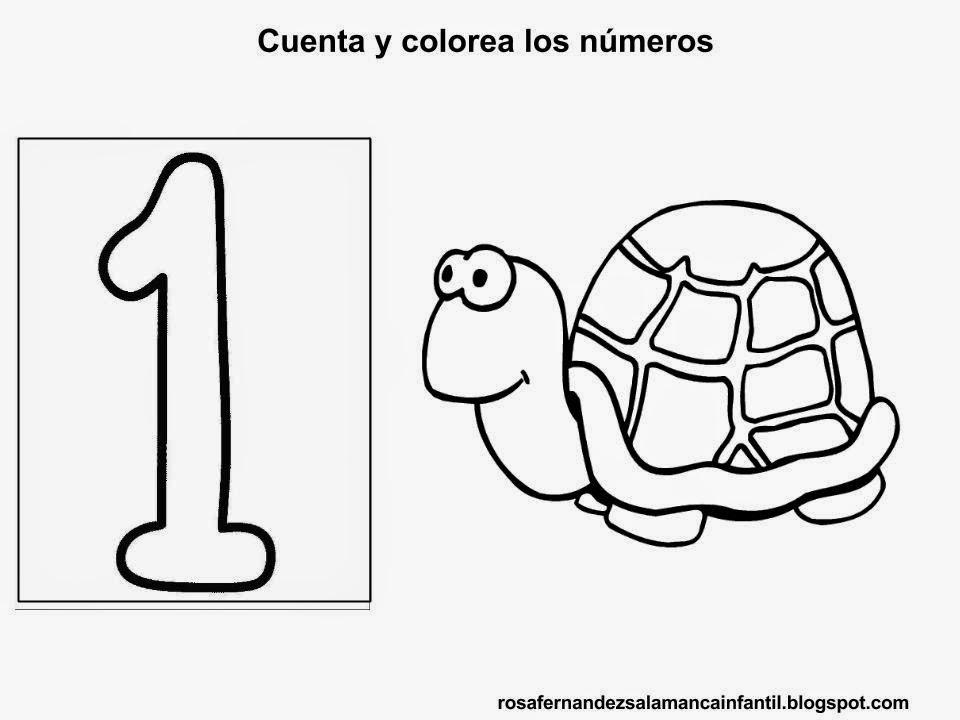 Maestra de Infantil: Fichas para trabajar los números del 1 hasta el ...