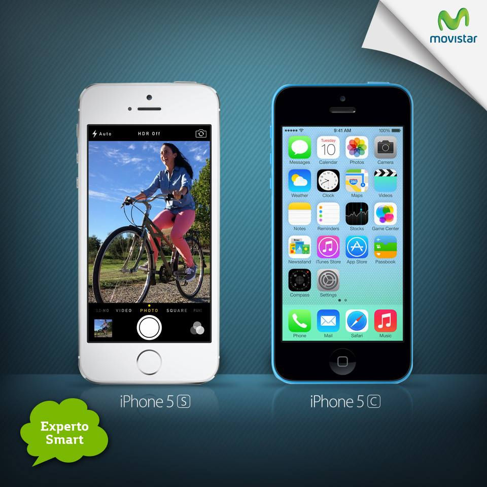 Movistar Perú: Iphone 5s e Iphone 5c en Movistar