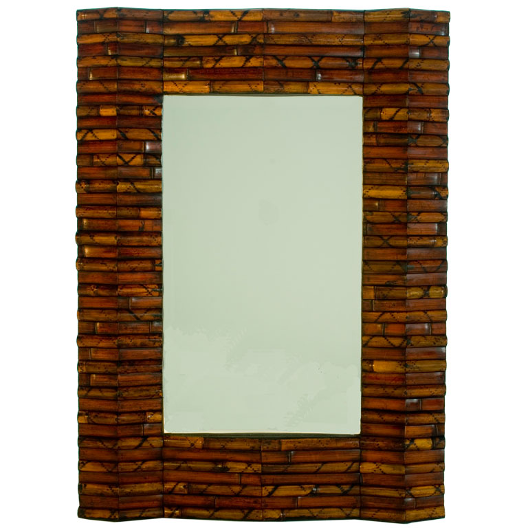 Buy bathroom mirror online - Bamboo Mirror Frame Bamboo Products Photo