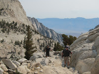 Above tree line Mount Whitney Trail