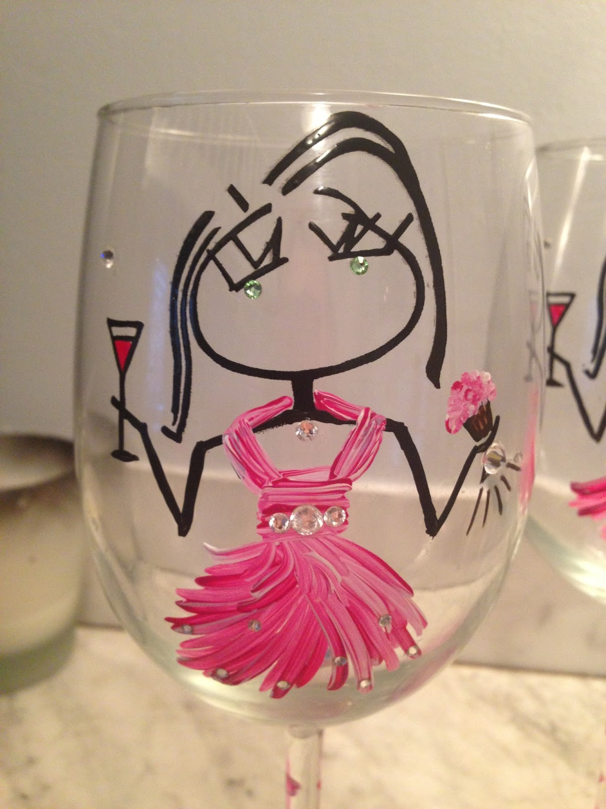 Cupcakes & Couture: {CLOSED} Giveaway: RobYn With a Y Wine Glasses!
