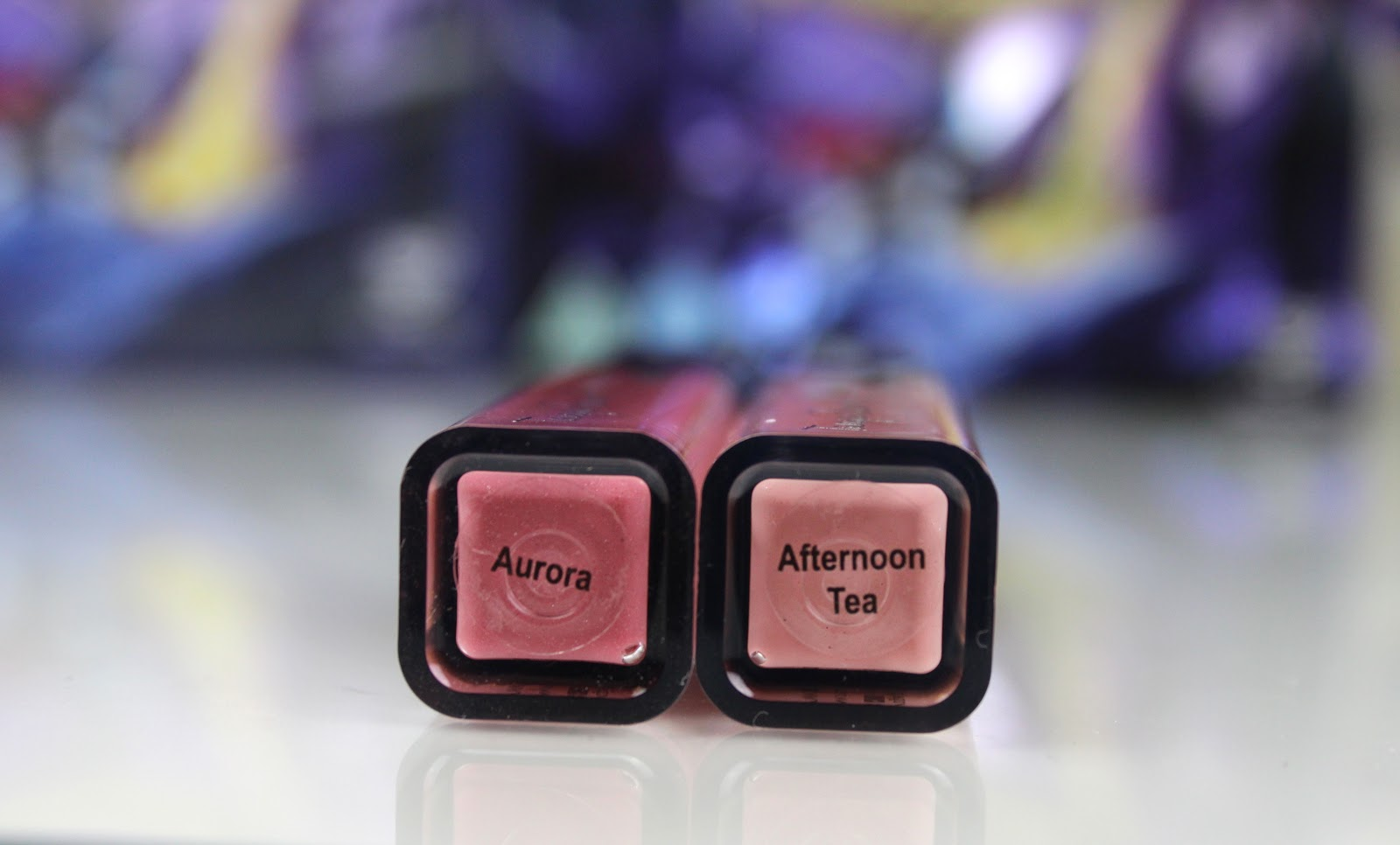 Names of Tanya Burr Lips and Nails Lipgloss in Afternoon Tea and Aurora